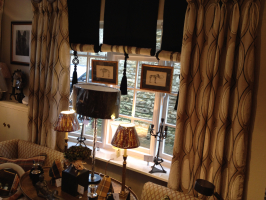 Curtains and Horse Hair Blinds for the Stow Showroom