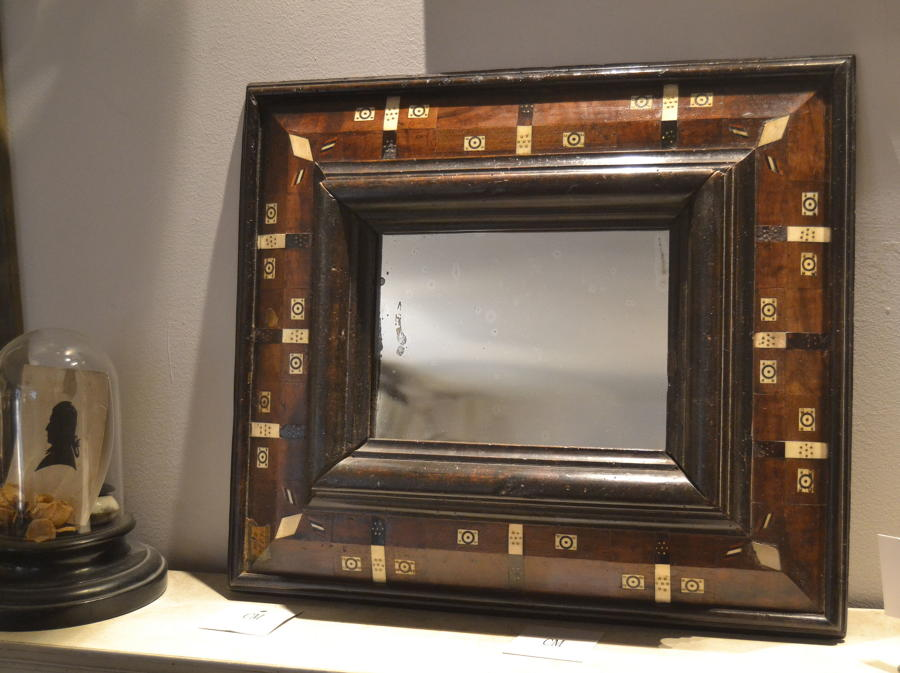Rare 17th Century Cushion Frame Mirror