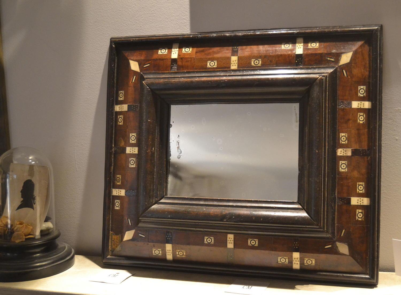 Rare 17th Century Cushion Frame Mirror